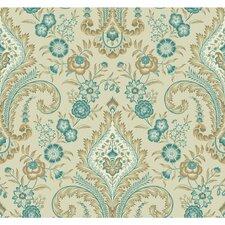 "Williamsburg Isham Indienne 27' x 27"" Floral and Botanical Wallpaper"