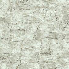 "Natural Elements Birch Bark 33' x 20.5"" Geometric Wallpaper"