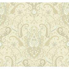 """Waverly Byzance 27' x 27"""" Paisley Wallpaper"""