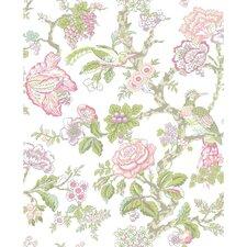 "Waverly Case Blanca 33' x 20.5"" Rose 3D Embossed Wallpaper"