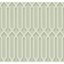 "Oriana 27' x 27"" Trellis 3D Embossed Roll Wallpaper"