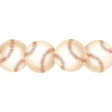 "Baseball 15' x 3"" Abstract Border Wallpaper"