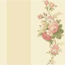 "Waverly 33' x 20.5"" Stripes Norfolk Rose Roll Wallpaper"