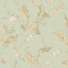 """Heritage Home Delicate 27' x 27"""" Acanthus Distressed Wallpaper"""
