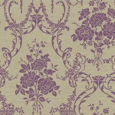 "Saint Augustine Neoclassical Rose 27' x 27"" Damask Wallpaper"