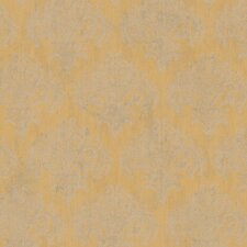 "Natural Radiance Bonaire 27' x 27"" Damask Foiled Wallpaper"