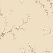 "Gentle Manor Oriental Spring 33' x 20.5"" Blossoms Floral Wallpaper"