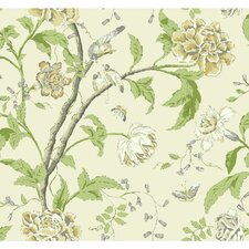 "Carey Lind Vibe Teahouse 27' x 27"" Floral and Botanical Wallpaper"