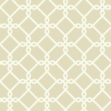 "Ashford Geometrics Threaded Links 33' x 20.5"" Geometric Wallpaper"