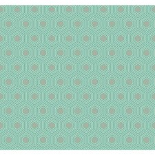 "Ashford Geometrics Honeycomb 27' x 27"" Geometric Wallpaper"