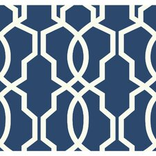 "Ashford Geometrics Hourglass 27' x 27"" Trellis Wallpaper"
