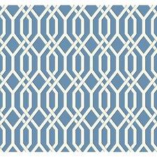 "Ashford Geometrics Garden Pergola 27' x 27"" Geometric Wallpaper"