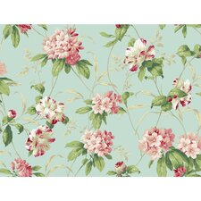 "Casabella II Rhododendron 27' x 27"" Floral and Botanical 3D Embossed Wallpaper"