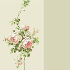 "Casabella II Rose 33' x 20.5"" Rose Floral Wallpaper"