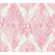 "Wallpapher Boho Chic 27' x 27"" Damask 3D Embossed Wallpaper"
