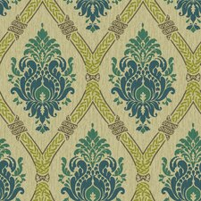"Global Chic 33' x 20.5"" Damask 3D Embossed Wallpaper"