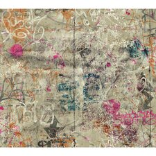 "Urban Chic Street Art 27' x 27"" Abstract Roll Wallpaper"