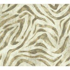 "Urban Chic Serengeti 27' x 27"" Animal Print Roll Wallpaper"