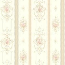 "New Neutrals 33' x 20.5"" Delicate Rose Stripe Roll Wallpaper"