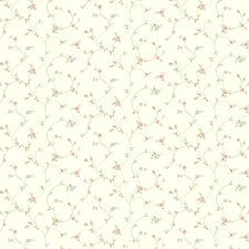 """Brights 27' x 27"""" Rose Toss Floral Roll Wallpaper"""