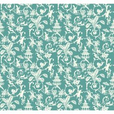 "Waverly Small Prints 27' x 27"" Toile Wallpaper"