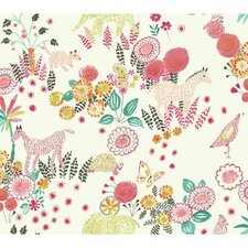 "Waverly Kids 27' x 27"" Botanical Wallpaper"