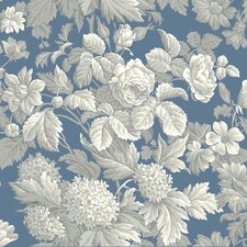 """French Dressing 33' x 20.5"""" Floral and Botanical Distressed Wallpaper"""