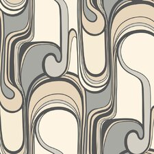 Risky Business Curves Ahead 27' x 27' Abstract Foiled Wallpaper