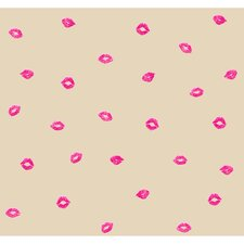 "Risky Business Smooches 33' x 20.5"" Abstract Wallpaper"