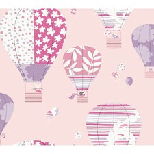 "Peek-A-Boo 27' x 27"" Hot Air Balloon Wallpaper"