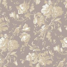 "Gentle Manor Trail27' x 27"" Floral and Botanical Distressed Wallpaper"