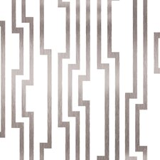 """Candice Olson Shimmering Details 33' x 20.5"""" Abstract Foiled Wallpaper"""