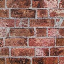 """Modern Rustic 33' x 20.5"""" Brick Distressed Wallpaper"""