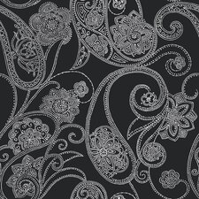 "Candice Olson Shimmering Details Dotted 33' x 20.5"" Paisley Wallpaper"