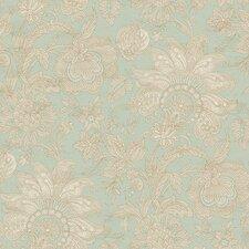 "Aged Elegance II Bali 27' x 27"" Floral and Botanical Distressed Wallpaper"