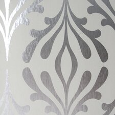 "Candice Olson Inspired Elegance 33' x 20.5"" Abstract Foiled Wallpaper"
