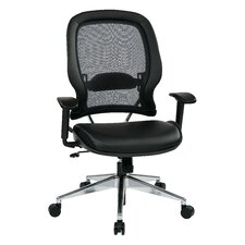 """Space 23"""" Professional Air Grid Chair with Eco Leather Seat"""