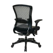 Space Seating Eco Leather Conference Back Chair with Flip Arms
