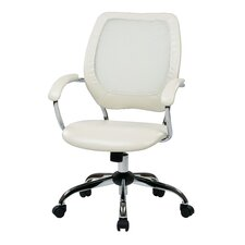 Designer Mid-Back Conference Chair with Chrome Accents