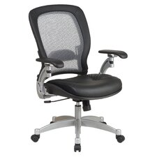 SPACE Air Grid Leather Conference Chair with Arms