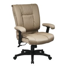 Deluxe Mid-Back Leather Conference Chair