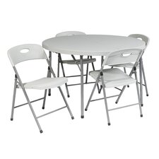 "5 Piece 48"" Round Folding Table Set"