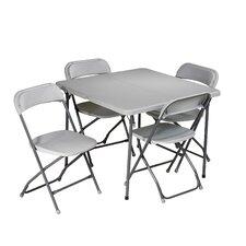"5 Piece 36"" Square Folding Table Set"