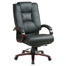 Leather High-Back Executive Chair with Arms