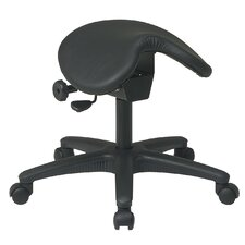 Backless Drafting Chair with Saddle Seat and Seat Angle Adjustment