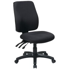 Work Smart High-Back Dual-Function Ergonomic Executive Chair with Arms