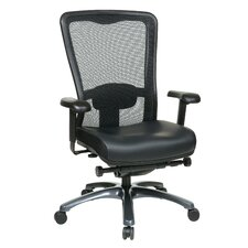 ProGrid High-Back Leather Chair