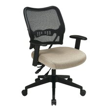 AirGrid Back and Fabric Seat Space Seating Deluxe Conference Chair