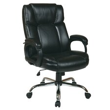 Eco Leather Big Mans Executive Chair with Padded Loop Arms