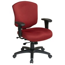 Work Smart Mid-Back Executive Chair with Arms